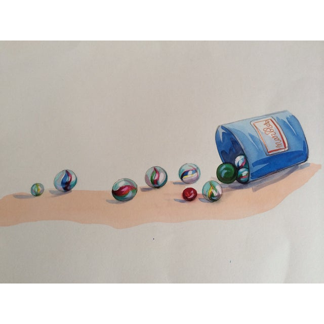 Watercolor Marbles Advertising Lithograph - Image 5 of 5