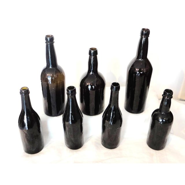 Fantastic Early 19thc Collection of Olive Green Bitters Bottles - Image 2 of 9