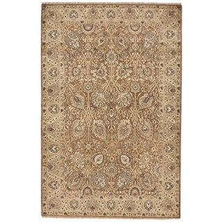 Indian Hand Knotted Rug- 4′6″ × 6′8″