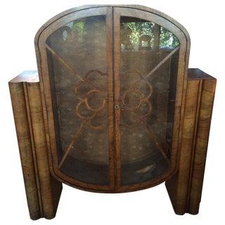Art Deco Cabinet with Walnut Veneer