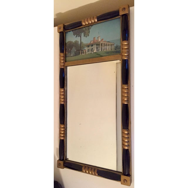 Antique Sheraton Federalist Style Mirror of Washington's Mount Vernon - Image 5 of 8