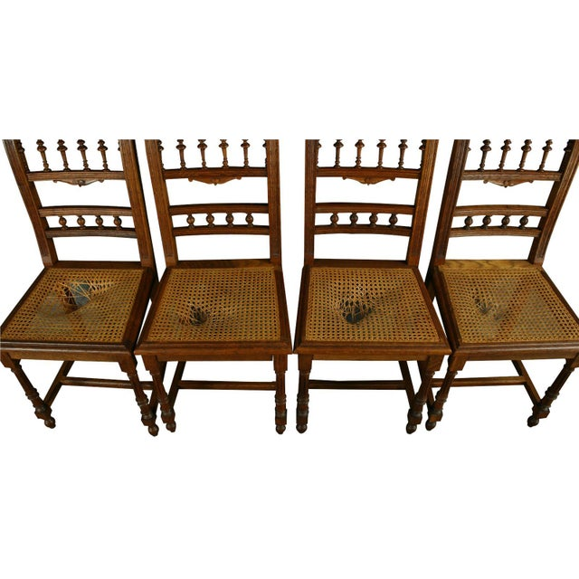 Antique French Renaissance Henry II Oak Chairs - 8 - Image 3 of 8