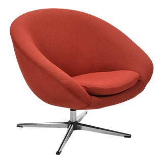 Overman Red Swivel Lounge Chair