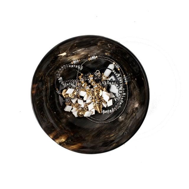 Image of Round Buffalo Horn Jewelry Dish