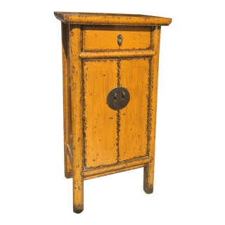 Chinese Golden Yellow Cabinet