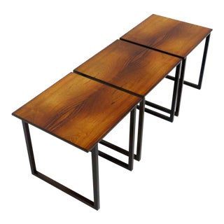 Rosewood Cube Nesting Tables - Set of 3