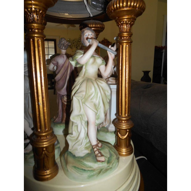 Porcelain Musical Lady Figures Lamp - Image 7 of 7