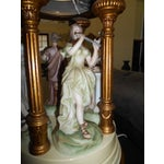 Image of Porcelain Musical Lady Figures Lamp