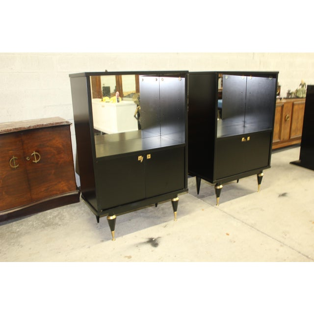 French Art Deco Sideboard Display Cabinets - A Pair Circa 1940s - Image 11 of 12