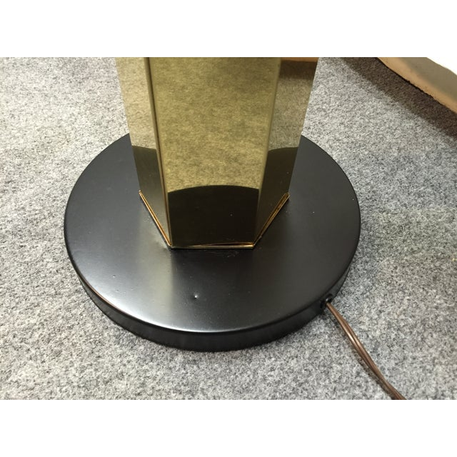 Hexagonal Brass Column Floor Lamp - Image 9 of 9