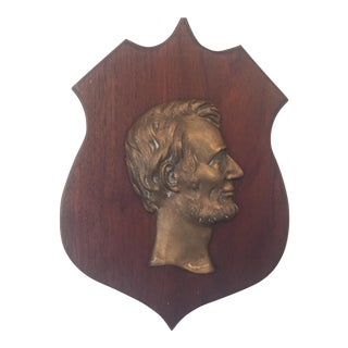 Vintage Abraham Lincoln Wall Plaque