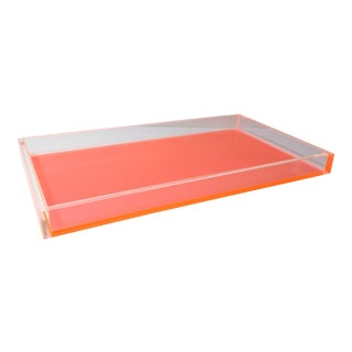 Lucite Tray with Neon Bottom
