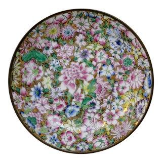 Vintage Porcelain & Brass Bowl
