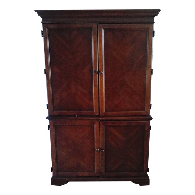 Image of Mahogany Hutch-Table-Armoire Multi-functional Unit