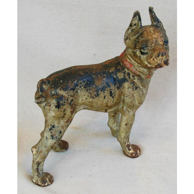1940s Cast Iron Boston Terrier Dog Doorstop - Image 3 of 9