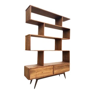 Mid Century Abstract Bookcase Wall unit
