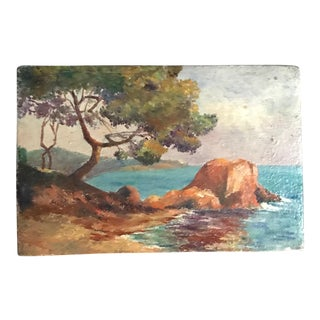 Antique French Oil Seascape & Landscape