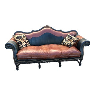 Western Passion Two Tone Leather Sofa