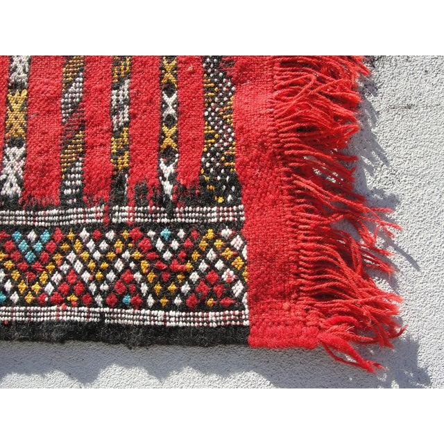 "Red Moroccan Tribal Kilim Rug - 2'7"" X 4' - Image 5 of 6"