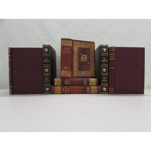 Image of Burgundy & Brown Decorative Books - Set of 7