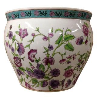 Chinese Porcelain Fishbowl Planter