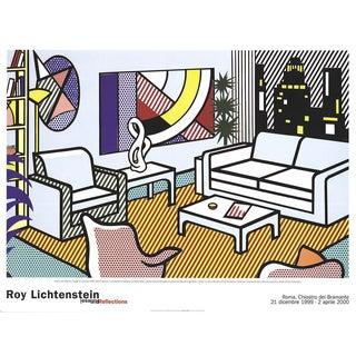 2000 Roy Lichtenstein Interior with Skyline Poster
