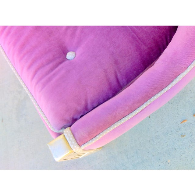 Vintage Lilac Slipper Chair - Image 5 of 8