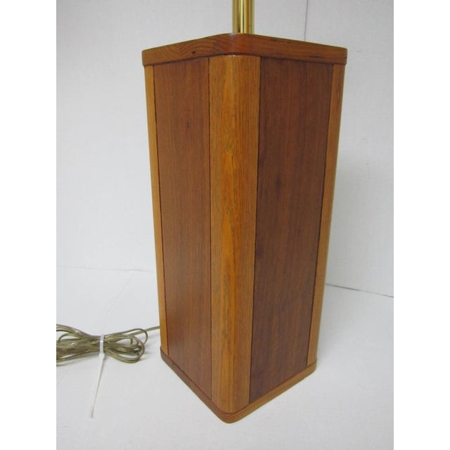 Mid Century Modern Solid Wood Table Lamp - Image 4 of 10