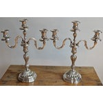 Image of Christofle Silverplate Candelabras - a Pair