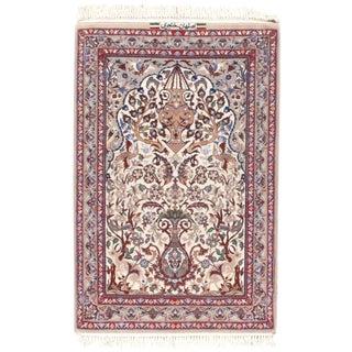 """Pasargad N Y Persian Isfahan Silk & Korker Wool Rug - 2'5"""" X 3'7"""""""