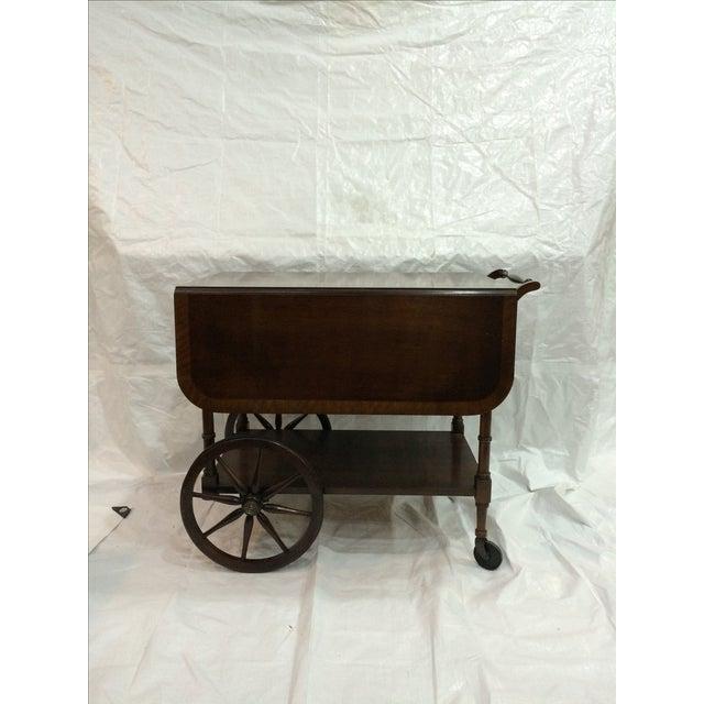 Walter of Wabash Drop-Leaf Bar Cart - Image 3 of 10