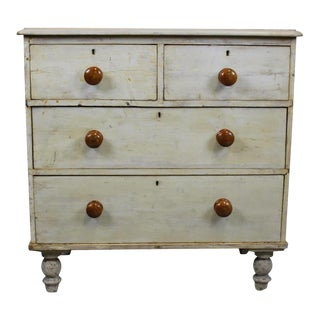 English Pine Painted Chest