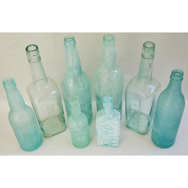 Antique Mediterranean-Blue Bottles - Set of 8 - Image 3 of 8