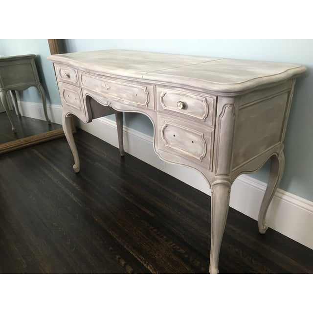 Distressed French Vanity Table - Image 4 of 5