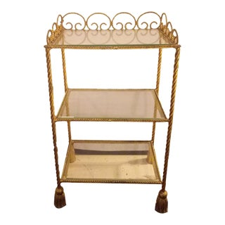 Baguès Style Italian Bronze & Glass Three-Tier Etagere