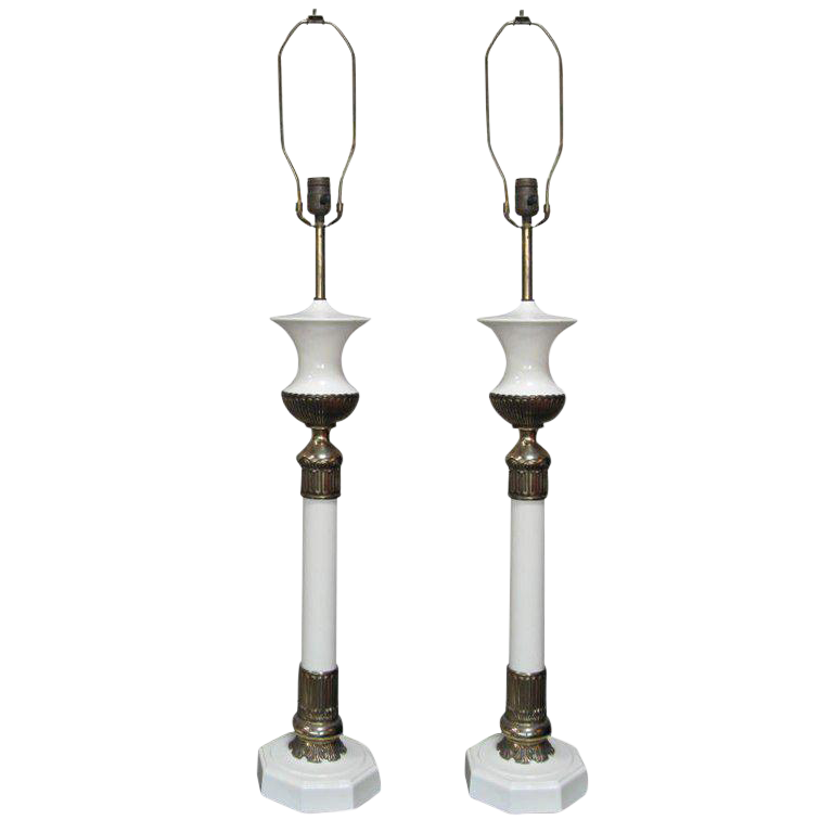 Hollywood Regency Stiffel Table L&s Pair  sc 1 st  DECASO & Antique u0026 Designer Stiffel Lighting | DECASO azcodes.com