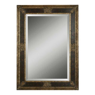 Antique Gold and Black Cadence Mirror