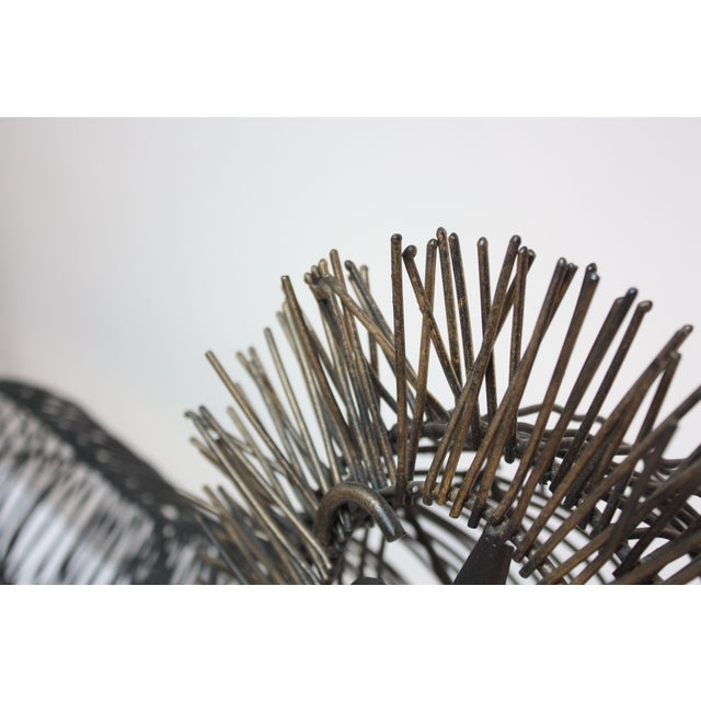 Brutalist Style Lion Wire Scupture - Image 5 of 11