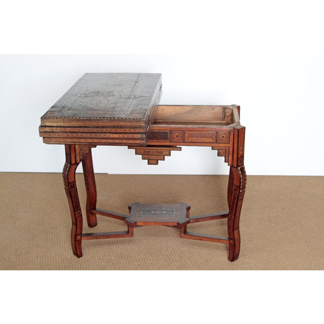 ANTIQUE SYRIAN FOLDING GAMES TABLE - Image 3 of 6