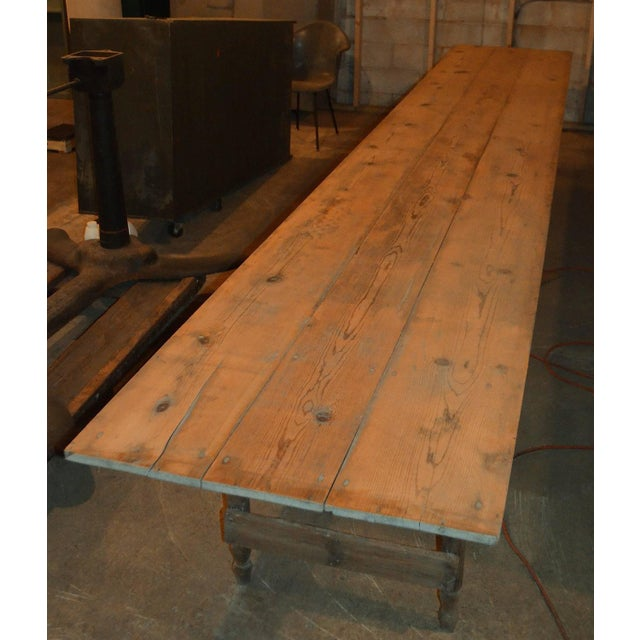 Antique Old Harvest Pine Table - Image 2 of 9