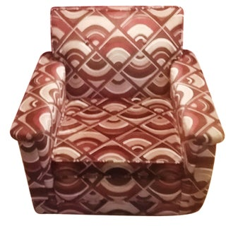 Jack Lenor Velvet Lounge Chair