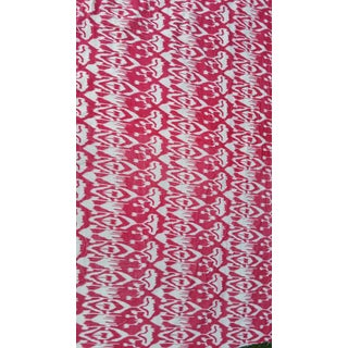 pink Cotton Velvet Ikat Fabric