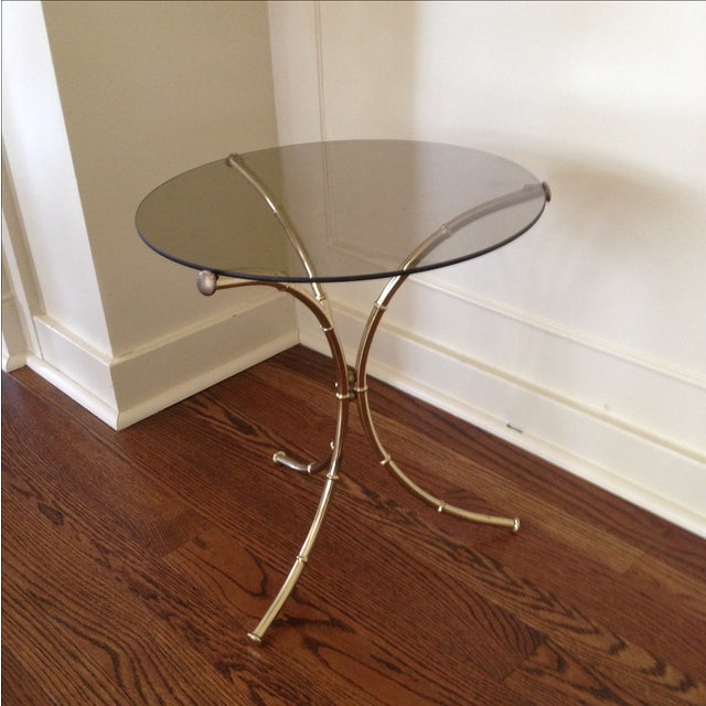 Vintage Faux Bamboo Accent Table - Image 3 of 11