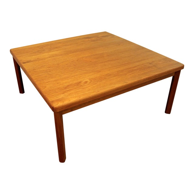 Mid-Century Danish Modern Square Teak Coffee Table