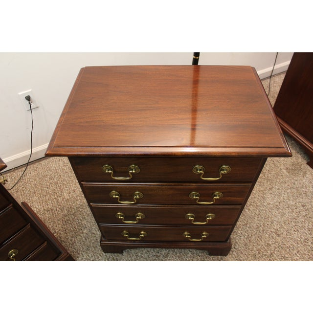 Image of Cresent Chippendale Nightstands - A Pair