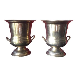 Petite Brass Champagne Buckets - Pair