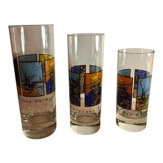 Mid-Century Van Gogh Shot Glasses - Set of 3