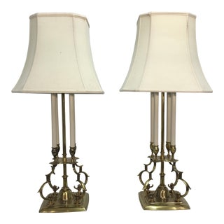 T. Parzinger for Stiffel Brass Lamps - A Pair