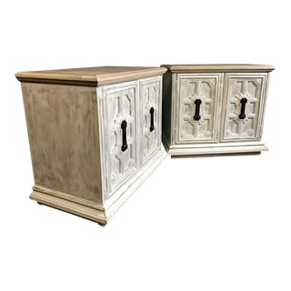 Stanley Furniture Weathered Wood Nightstands - A Pair