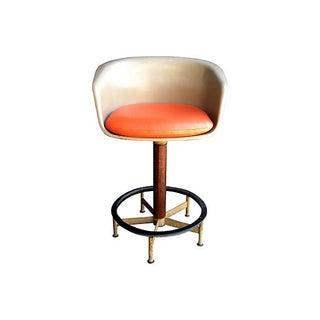 Saarinen Style Swivel Bar Stool By Burke